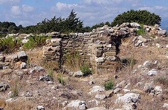 Voidokilia beach - Image: Thrasimidis tomb