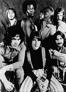 Three Dog Night, 1972. Back L-R: Joe Schermie, Floyd Sneed, Michael Allsup and Jimmy Greenspoon. Front L-R: Danny Hutton, Cory Wells and Chuck Negron