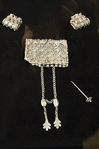 Early Slavs - Three kaptorgs from a necklace; jewellery from the tomb of the Kouřim Princess, c. 900 AD