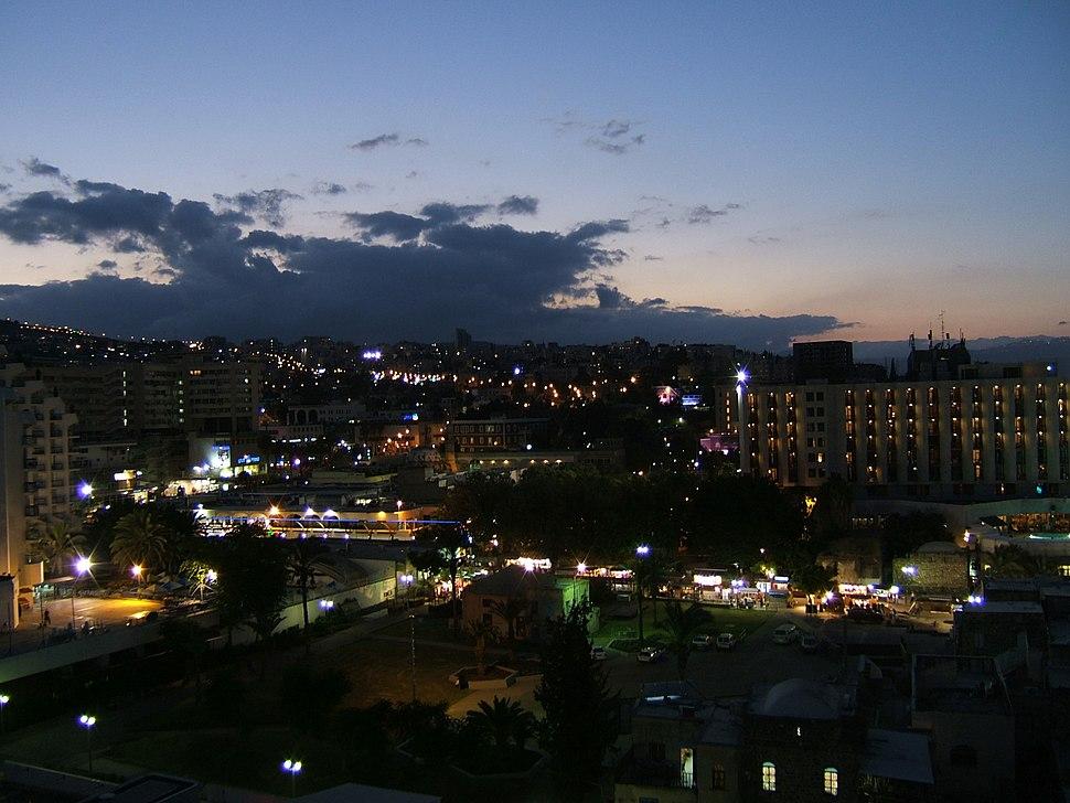 Tiberias israel night byBantosh
