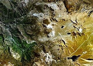 Ticsani volcano in Peru