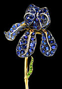 Tiffany and Company Iris Corsage Ornament Walters 57939 Detail croped