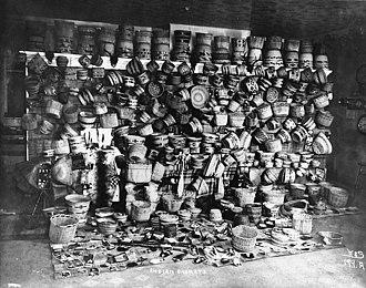 Eric A. Hegg - Tlingit and Aleut baskets and beadwork ca. 1898 (Webber & Stevens reprint)