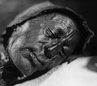 Bog body - Tollund Man lived in the 4th century BCE, and is one of the best studied examples of a bog body.