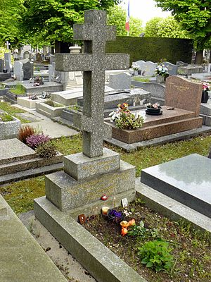 Nikolai Berdyaev - Berdyaev's grave, Clamart (France).
