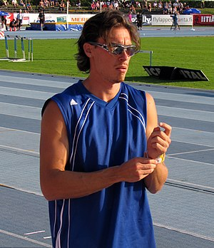 Tampereen Pyrintö - Tommi Evilä, long jumper and World bronze medalist from 2005.