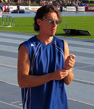 Tampereen Pyrintö - Tommi Evilä, long jumper and World bronze medalist from 2005.