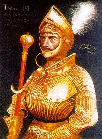 Battle of Mohács - General Pál Tomori, the captain of the army, in his golden renaissance armour (1526)