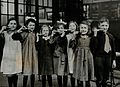 Tooth-brush drill at school, England; children pose with Wellcome V0030839.jpg