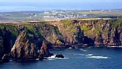 An aerial view of Tory Island