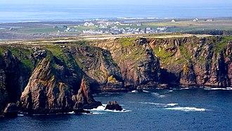 Tory Island - An aerial view of Tory Island
