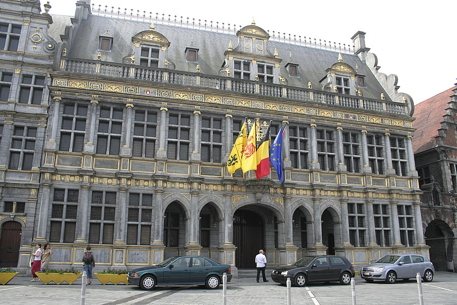 Tournai  (Belgium), the Cloth Hall (1610).