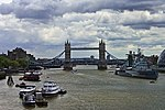 Tower Bridge, HMS Belfast & Thames River (4738756183).jpg
