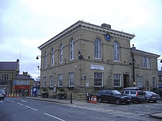 Wetherby Town Hall - Town hall, view from the side and rear