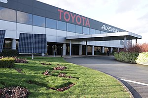 Toyota Manufacturing UK - Main entrance to Toyota Motor Manufacturing plant, Burnaston, near Derby.