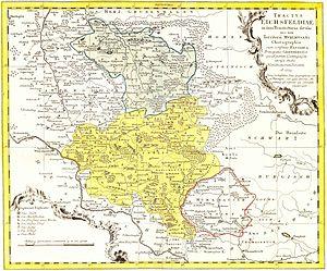 Eichsfeld - Eichsfeld map from 1759
