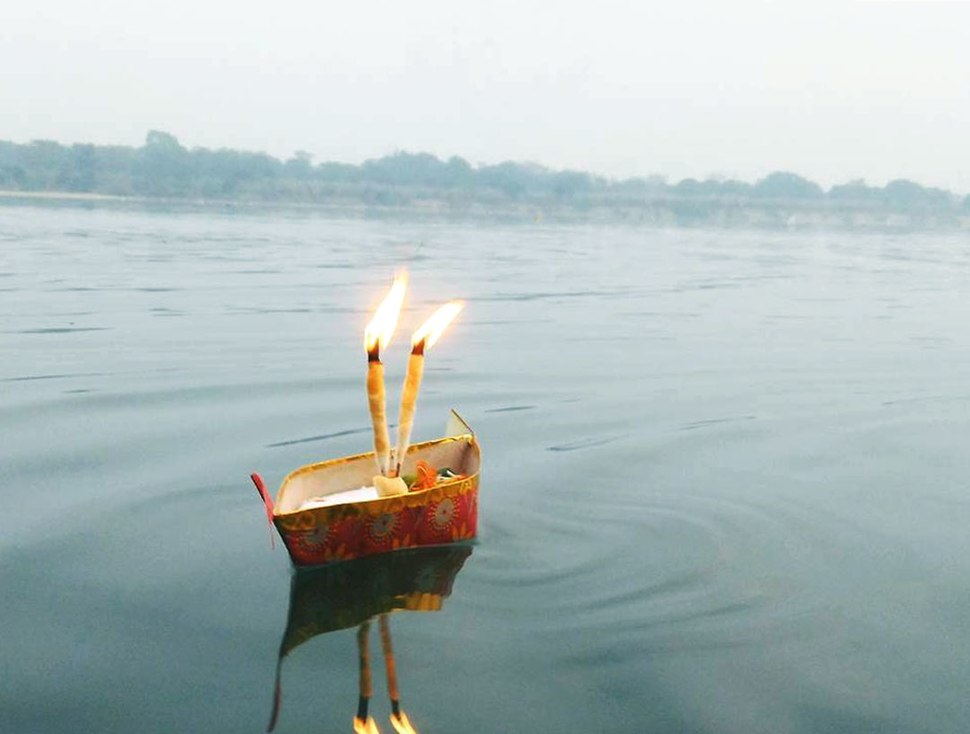 Traditional small boat used during for the celebration on the auspicious occasion of Kartik Purnima 02