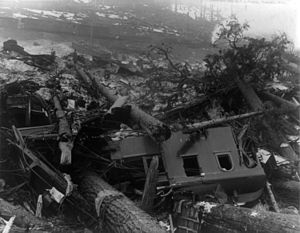 Wellington, Washington - Train wreckage caused by the avalanche