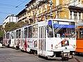 Tram in Sofia near Central mineral bath 2012 PD 028.jpg