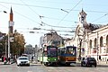 Trams in Sofia in front of Central Market Hall 2012 PD 14.JPG