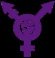 Transfeminism symbol purple.png