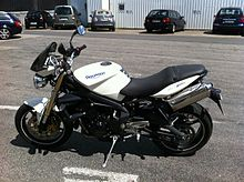 Triumph Daytona R Crystal White Touch Up Paint