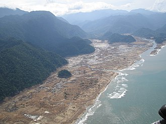 Tsunami - Tsunami aftermath in Aceh, Indonesia, December 2004.