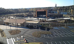 Image of the Tuscaloosa Amphitheater seen from the Hugh Thomas Bridge in downtown Tuscaloosa, Alabama, United States in December 2010