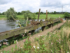 River Dove, Central England - The River Dove near Tutbury (Mill Fleam Sluice)