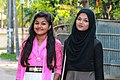 Two Bangladeshi girls at Pohela Boishakh celebration 2016 (02).jpg