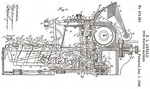 Horace Lucian Arnold - Type Writing Machine by Arnold, 1896