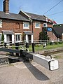 Tyrley Lock Cottages and Top Lock gate - geograph.org.uk - 828319.jpg