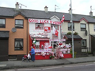 Tyrone GAA - Image: Tyrone football supporter, Strabane geograph.org.uk 969127