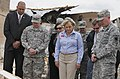 U.S. Army Maj. Brad Hanna, right, an assistant state chaplain with the Oklahoma Army National Guard, leads a prayer with Oklahoma Gov. Mary Fallin, center foreground, and Gen. Frank J. Grass, left foreground 130528-Z-VF620-4658.jpg