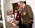 U.S. Senate Fred Thompson with Dr. Liane Russell Mouse House 1996 Oak Ridge (22768748792).jpg