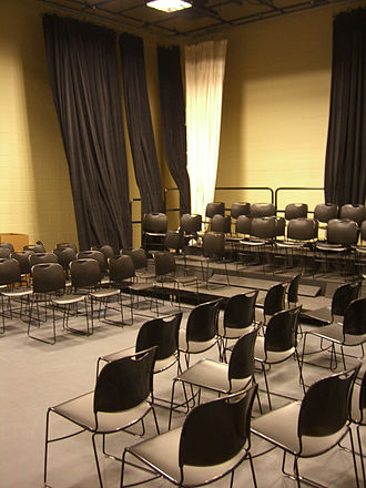 Black box theater - A black box theater used by drama students in Union City High School in New Jersey.