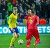 UEFA EURO qualifiers Sweden vs Romaina 20190323 Emil Forsberg challenge.jpg