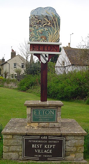 Etton, Cambridgeshire - Signpost in Etton