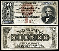 $50 Silver Certificate, Series 1880, Fr.327, depicting Edward Everett