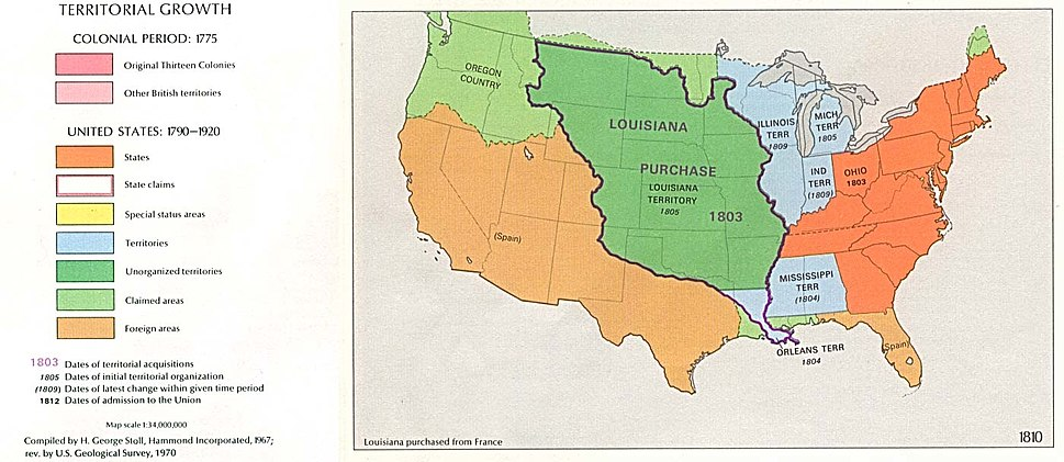 USA Territorial Growth 1810
