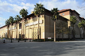 USC School of Cinematic Arts - The George Lucas Instructional Building (top) was demolished in 2009 after the opening of the new Cinematic Arts Complex (bottom).