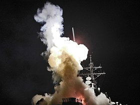 USS Barry (DDG-52) launching a Tomahawk missile in support of Operation Odyssey Dawn.jpg