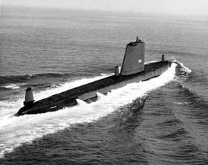 Cobbler (SS-344), underway, 1968.