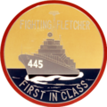 USS Fletcher (DD-445) insignia, in the 1960s (NH 71840-KN).png