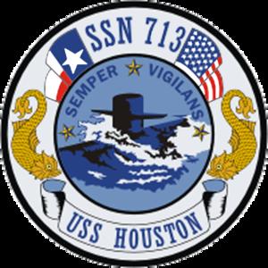 USS Houston (SSN-713) - Image: USS Houston SSN 713 Crest