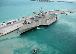 USS Independence (LCS-2) at Naval Air Station Key West, 29 March 2010 (100329-N-1481K-298)