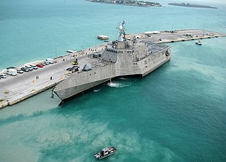 FFG(X) - Image: USS Independence (LCS 2) at Naval Air Station Key West, 29 March 2010 (100329 N 1481K 298)