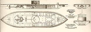 Внутренние планы USS Monitor