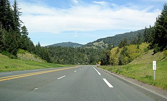 Mendocino County, California - US 101 in Mendocino County
