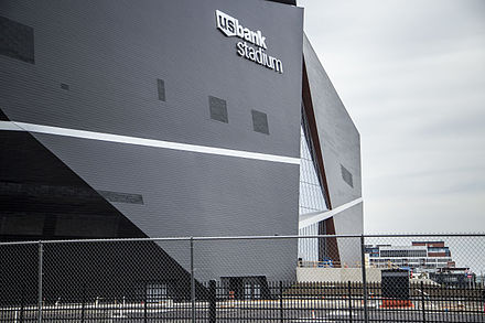 Dark facade side of stadium US Bank Stadium (Southeast) - Sep. 5, 2015.jpg